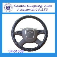 2014 new style DIY Sewing Car Steering Wheel Cover Chrome Wire wheel cover