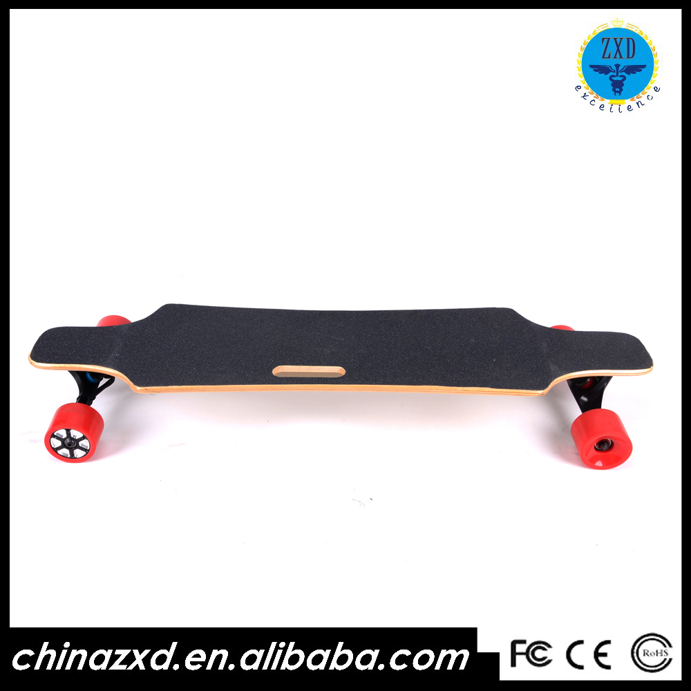 83mm dual hub motor electric skateboard with remote wireless control