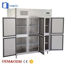 chest freezer Six doors fridge refrigerator meat freezer for restaurant