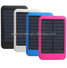 2015 latest power bank waterproof 8000mah solar power bank charger for mobile phone
