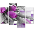 "The Tulips Photography Canvas Printing Flower Picture Canvas Print Modern Home Wall Decoration (12""x24""x2 12""x32""x2)"