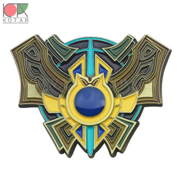 zinc alloy soft enamel magnet badge