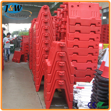 Construction Site Temporary Stackable Water Filled Plastic Road Barrier