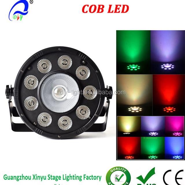 Price List Par Dmx512 Led COB Flat Par Light for Disco Ballroom KTV Bar Party Wedding
