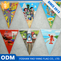 Alibaba Cn Hot Sales Custom 100D Polyester Fabric Cartoon Flags