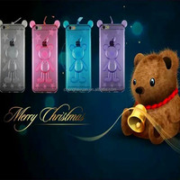2015 new bear lanyard soft tpu silicon phone protecitve case for iphone 5 5s