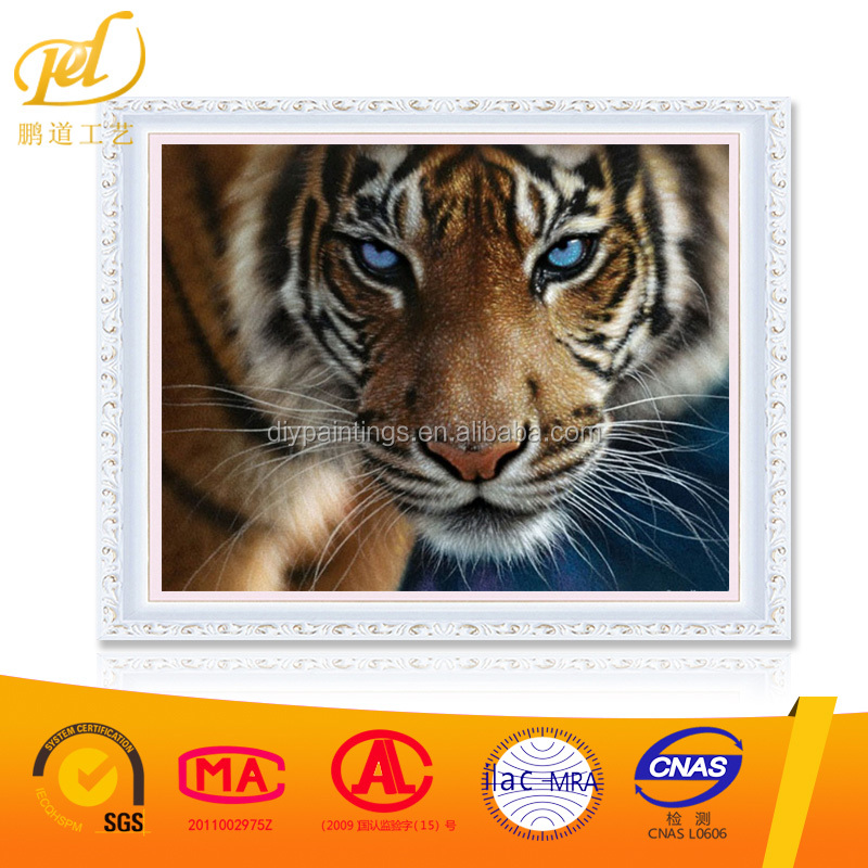 Europe Home Decoration Tiger Family DIY Canvas Oil Painting Frameless Pictures Painting By Numbers Wall 40*50cm y58