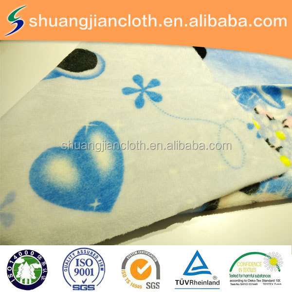 double -sided mickey mouse printded flannel fabric