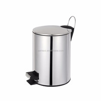 Aemaxx pedal function stainless steel waste bin for bathroom kitchen