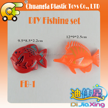 Make your own set--DIY plastic magnetic fishing toy set for kid