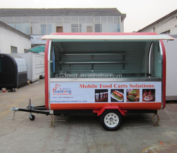 street fast food cart/electric mini van for sale with CE certificate