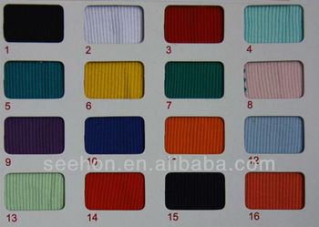 ultrathin 26S 100% cotton 2X2 rib fabric for cloth
