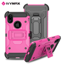 IVYMAX Top quality cheapest tpu color case for iphone x case tpu pc shockproof 3 in 1 armor back cover