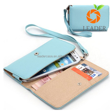Wholesale Litchi Grain Leather Wallet Purse Clutch Bag Mobile Phone Case For iPhone 7