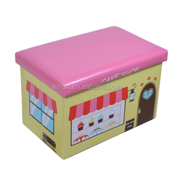 Printed PVC ottoman like cake shop rectangle shape