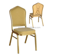 Back flower fashion hotel stackable banquet chairs