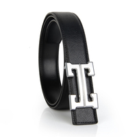 New custom men's decorative belt with cowhide leather