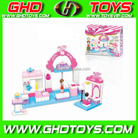 Fun for kids toy Girl Housewife block series soft plastic building blocks for kids