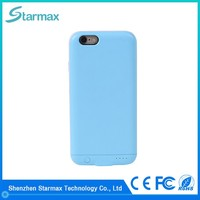 Polymer lithium battery fashion 2400mAh rechargeable battery case for iphone 6