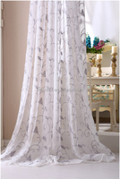 100% polyester wide width white embroidery curtain fabric ready made sheer curtain