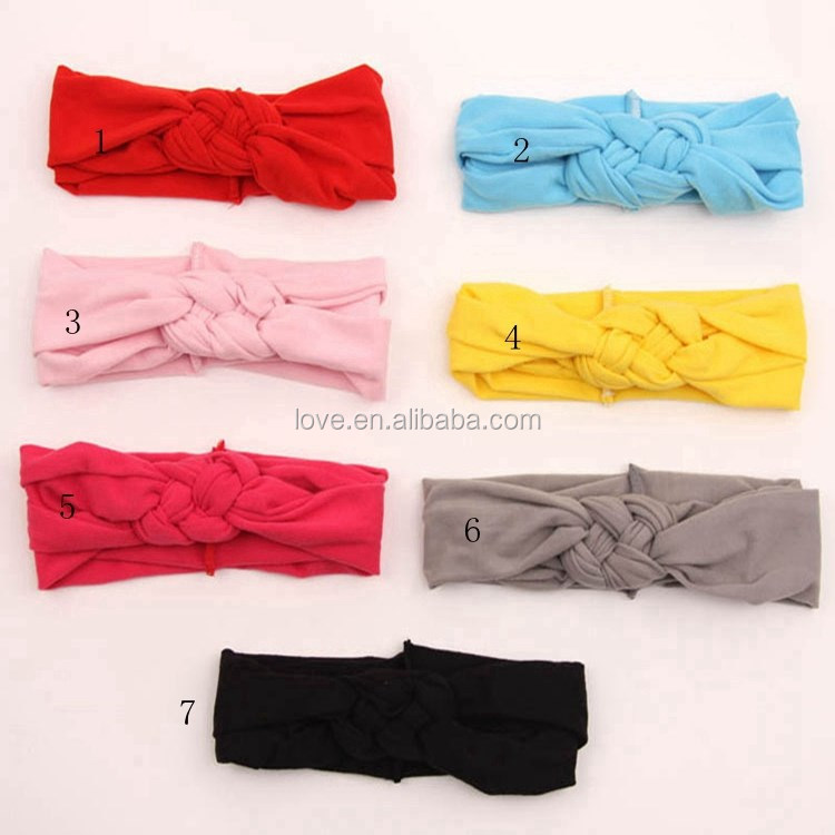 Wholesale Girls Kniting Cotton Hair Band Baby Turban Headband Warm Hair Accessory