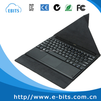 "Super Hot 10.1"" Private Mold Bluetooth keyboard leather case with touch pad/ docking keyboard"