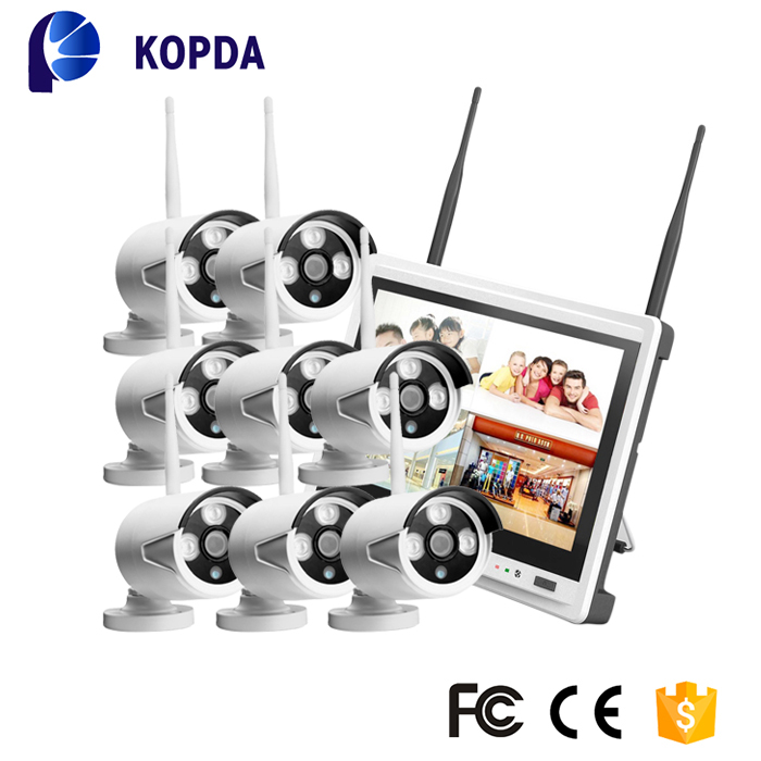 HD CCTV wireless monitor outdoor camera security system