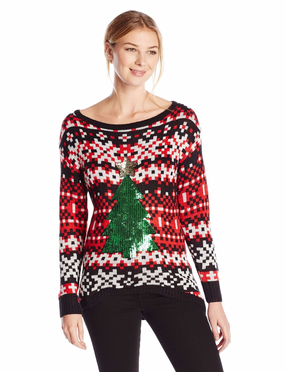 List manufacturers of jumper knitting patterns buy jumper women red white sweater pixelated pattern christmas jumper knitting patterns for adults bankloansurffo Image collections