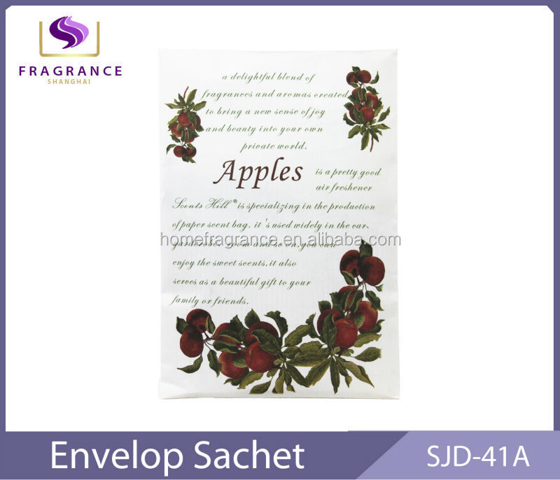 eco-friendly stocked aroma paper sachets home fragrance
