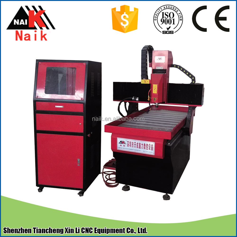 Strong stability metal copper engraving machine cnc router 6090 cast steel frame