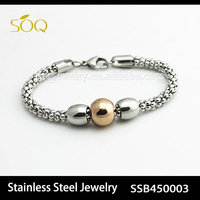SSB450003 Silver Plated Stainless Steel Mesh Chain Jewelry for Women & Men Fashion Bracelet