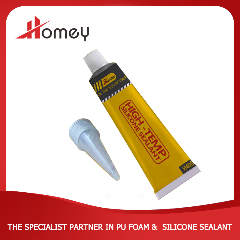 Homey H400 high temperatures excellent flexible joint coloured rtv sealant