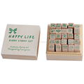 Jinyuan Factory Custom logo wooden stamp set for christmas gift