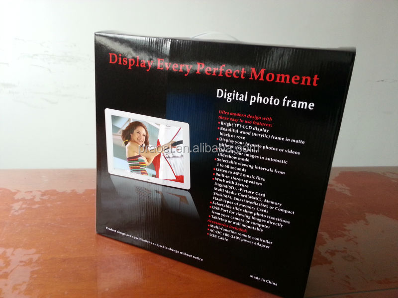 "full hd 1080P lcd advertising monitor 15"" battery operated digital photo frame"