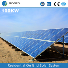 100KW Industrial Grid-Tied Solar power System Ground Mounting Solar Energy Generating System for Industrial Used