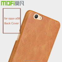 MOFi Original Celulares Back Cover for OPPO A59 , Mobile phone PU Leather Case for OPPO A59m