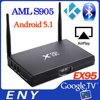 Android 5.1 EX95 Amlogic S905 TV Box android iptv set top box metal case tv box