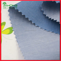 Blue color twill woven chambray 100 cotton fabric