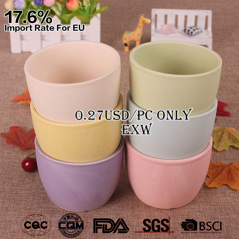 0.27USD/PC-cheap small mini colorful glazed matte finish ceramic flower planters for plant indoor