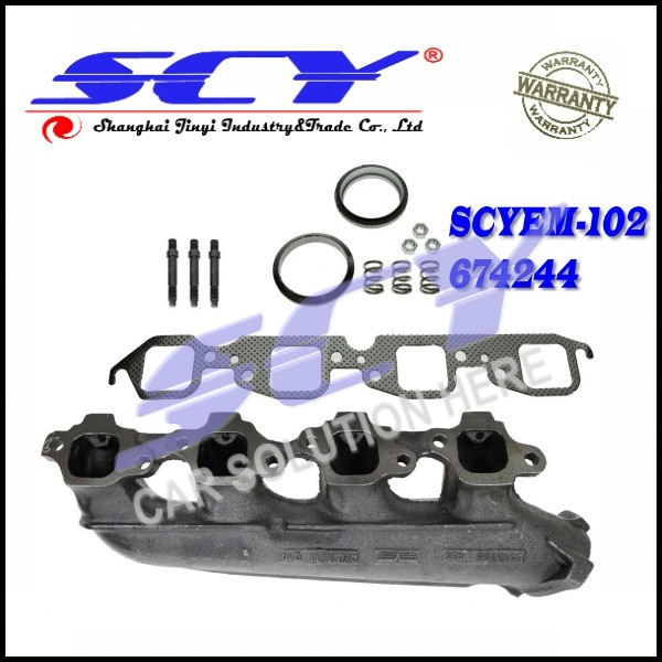Exhaust Manifold Kit For Chevy GMC Block 454 Right 10045732 14048362 6272280 12551443
