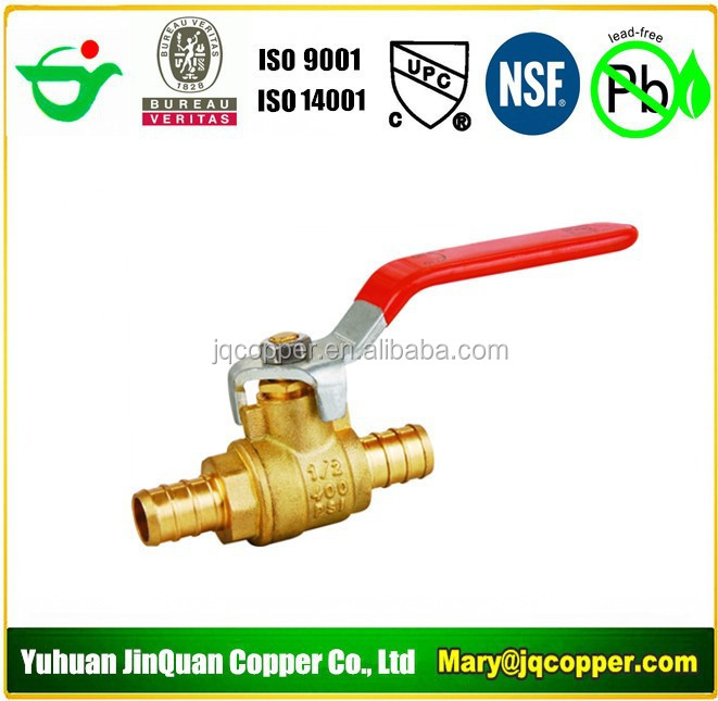 17 High Quality cUPC NSF approved Low Lead/Lead Free Brass Pex Ball Valve