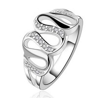 Ally Express Cheap Wholesale Ring New Unique Copper 925 Sterling Silver Plating Hollow Band Finger Ring