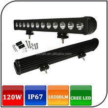 "Wholesale high power 20"" IP67 each 10W cree led light bar spot flood 120w jeep off road led work light"