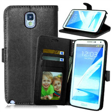 For Samsung Galaxy Note 3 N900 Magnetic Flip PU Leather Wallet Case with Photo Frame Card Holder Stand fundas Mobile Phone Cover