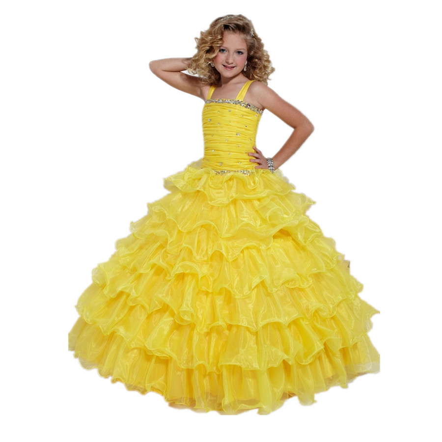 Cheap Yellow Pageant Gown, find Yellow Pageant Gown deals on line at ...