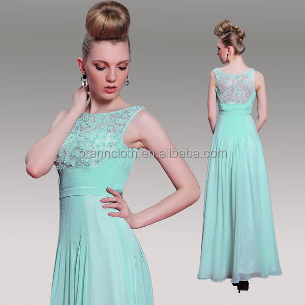 vestidos de fiesta 2016 custom made chiffon beaded free long green prom dress