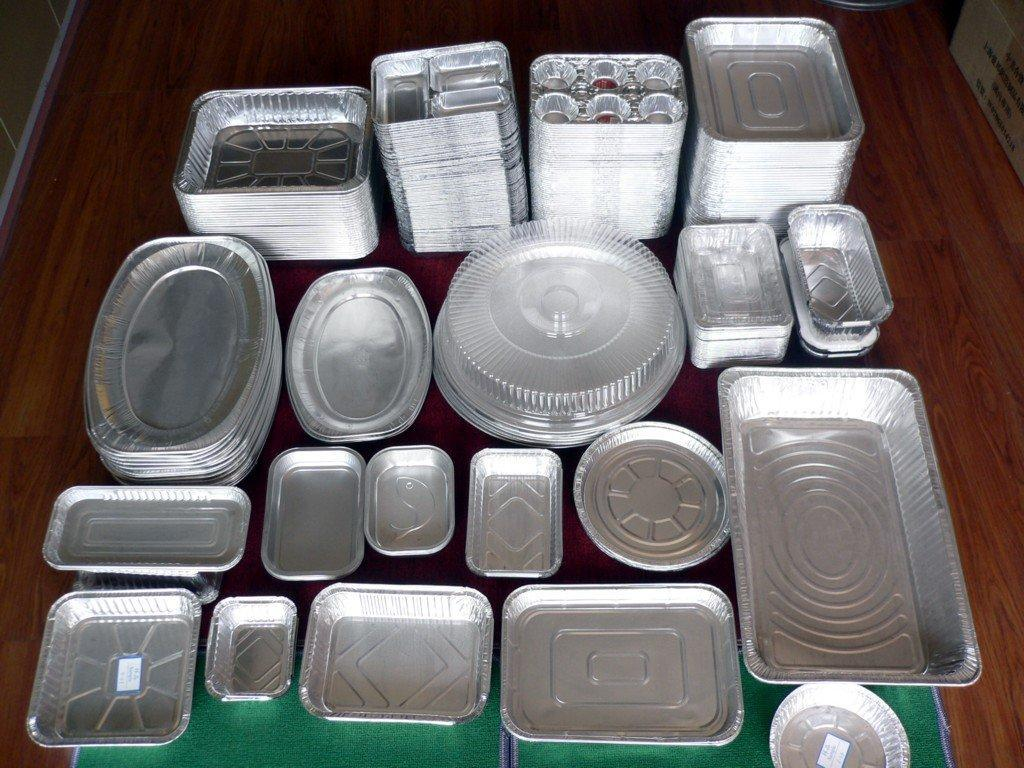 aluminium foil section cup tray