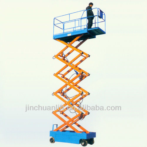 electric battery powered self-propelled hydraulic mobile scissor lift elevating aerial work platform