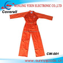 orange reflective stripe coverall ,Workwear,women safety coverall CW-001