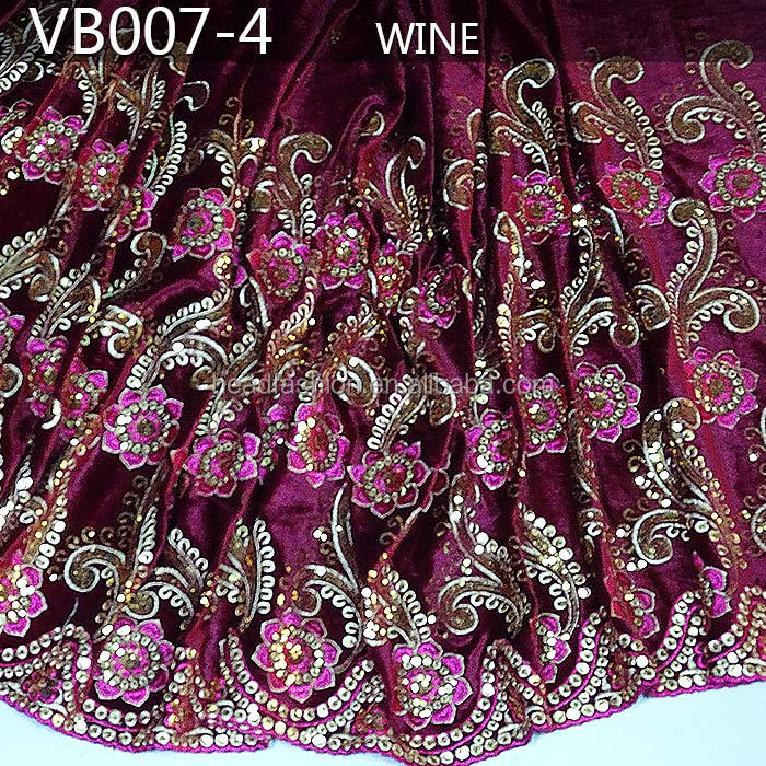 VB007-4 sequins velvet lace velvet india george wrappers intorica george